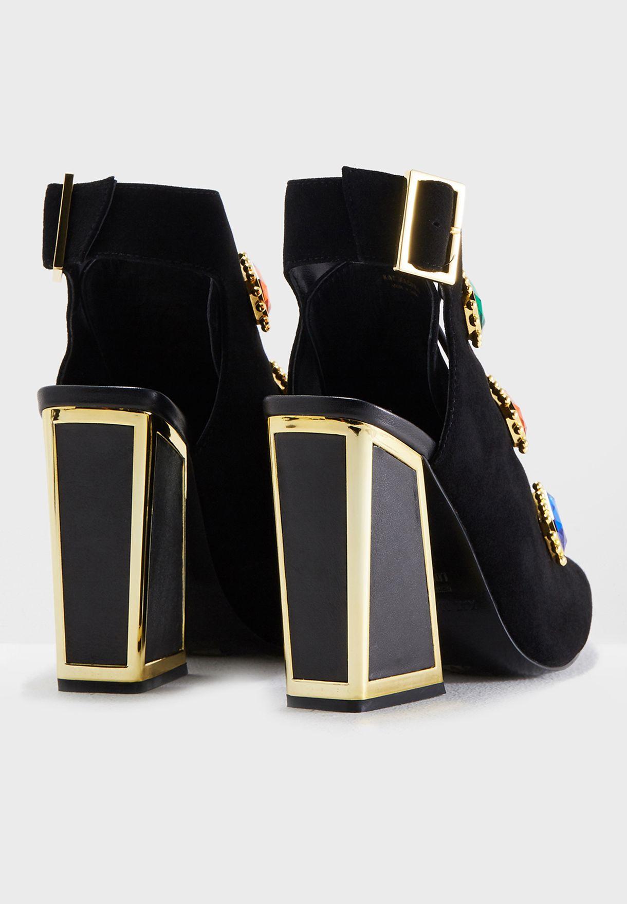 Anais Jewels Heel Booties