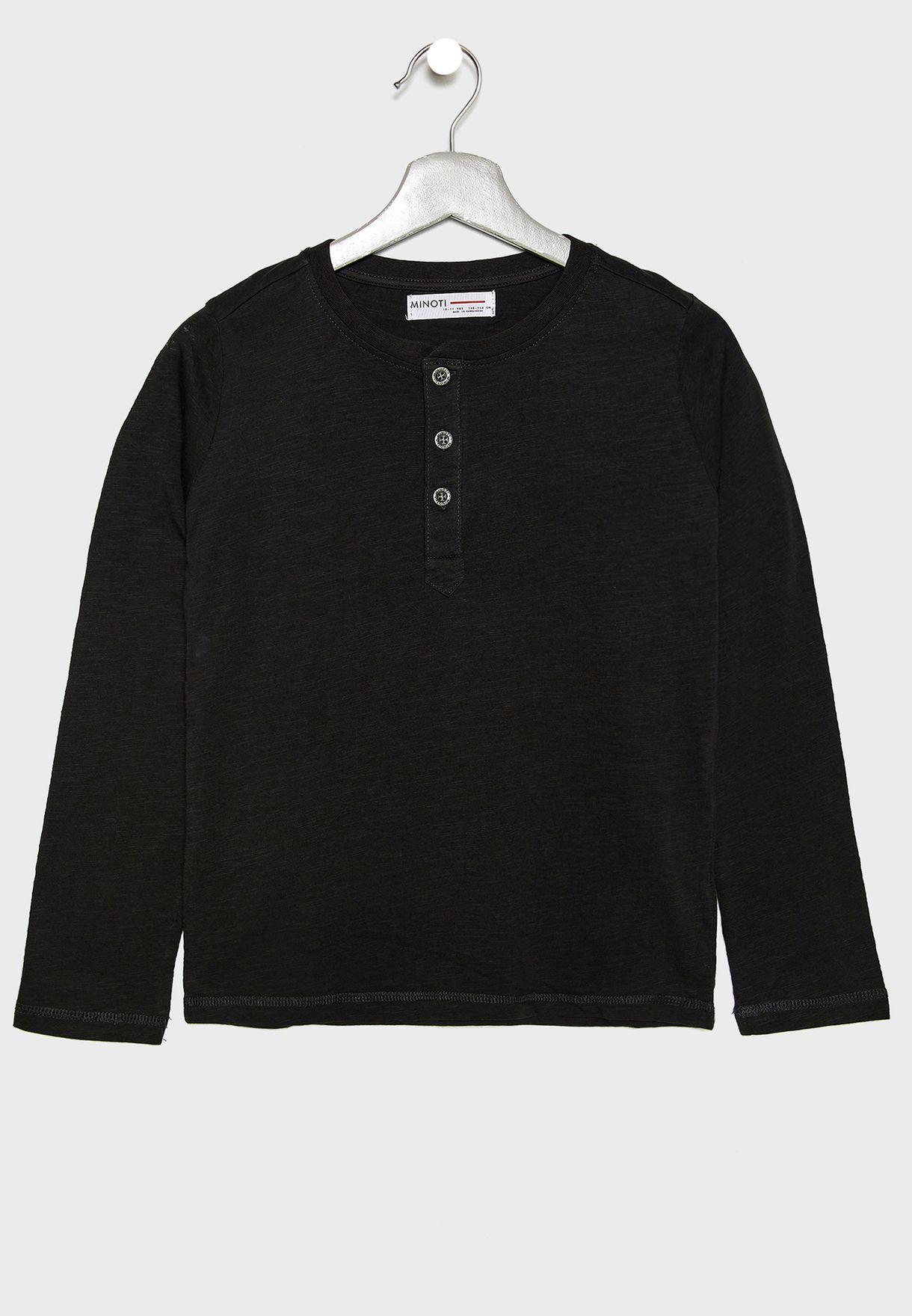 Kids 2 Pack Henley T-Shirts