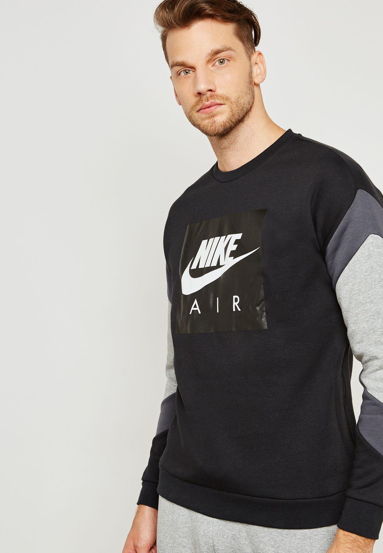d43603ed53c0 Shop Nike multicolor Air Fleece Sweatshirt 928635-010 for Men in UAE ...