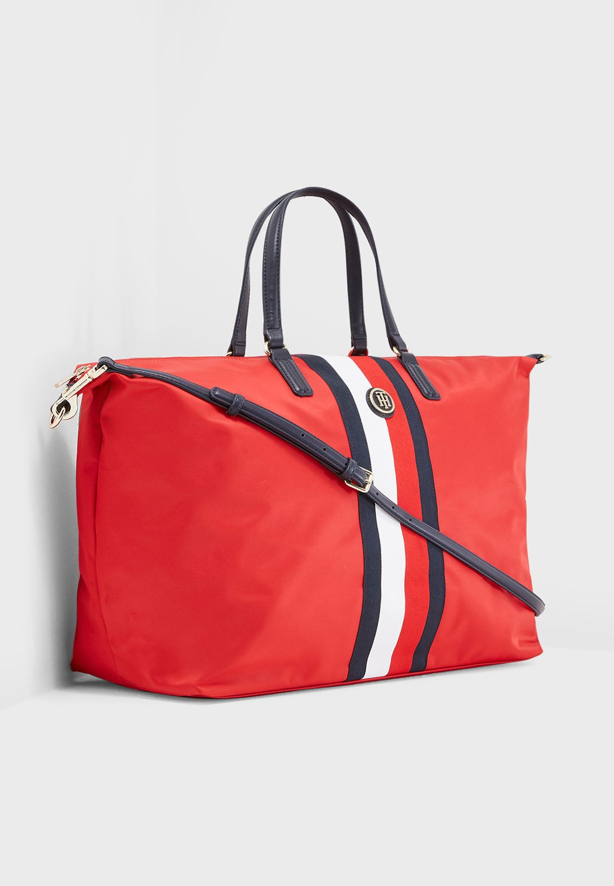 501ebeecba88 Shop Tommy Hilfiger red Poppy Weekender Tote AW0AW05841 for Women in ...