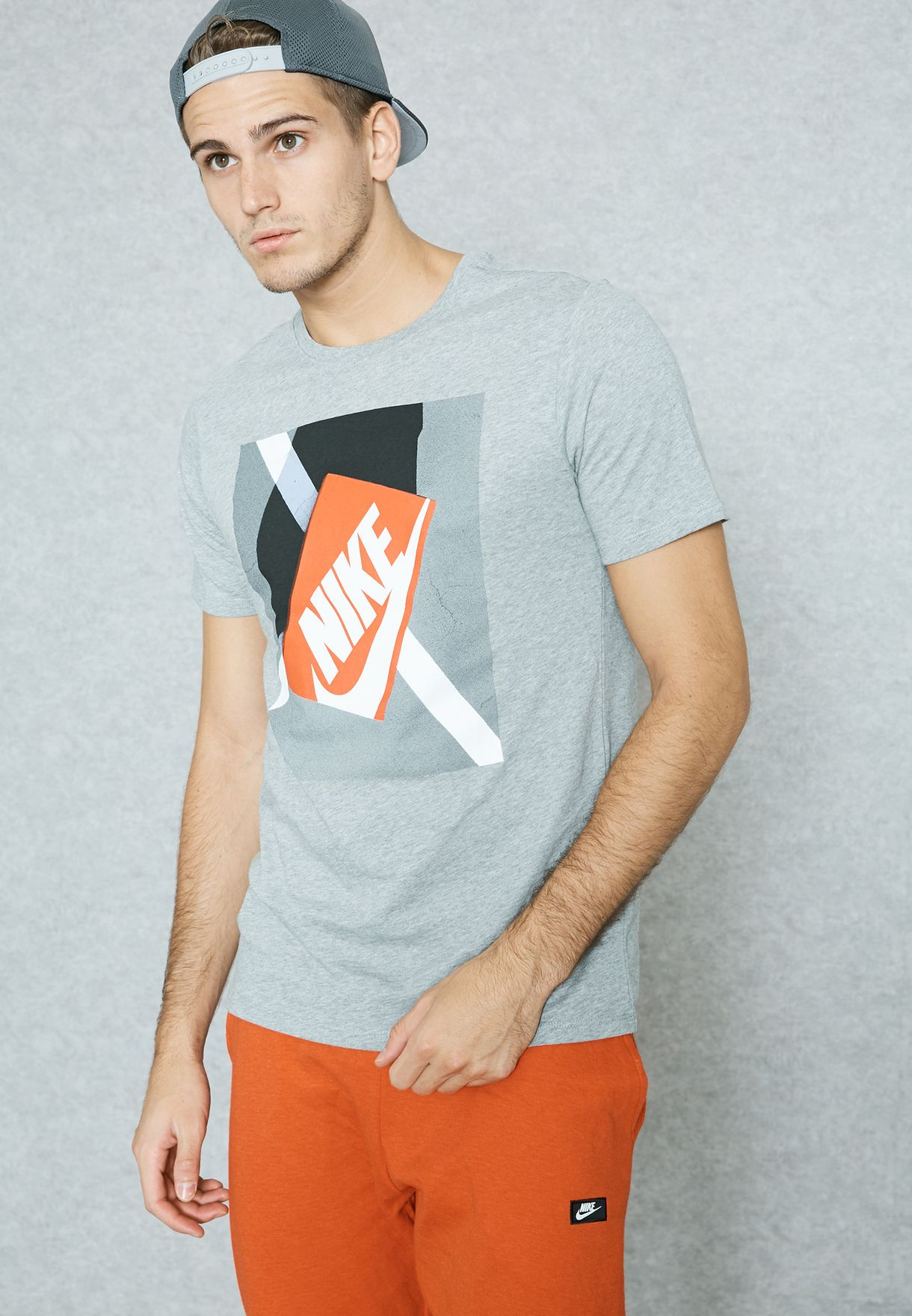 Shop Nike grey Shoebox Photo T-Shirt 850671-063 for Men in Kuwait -  NI727AT54WTP 67fa6e18937