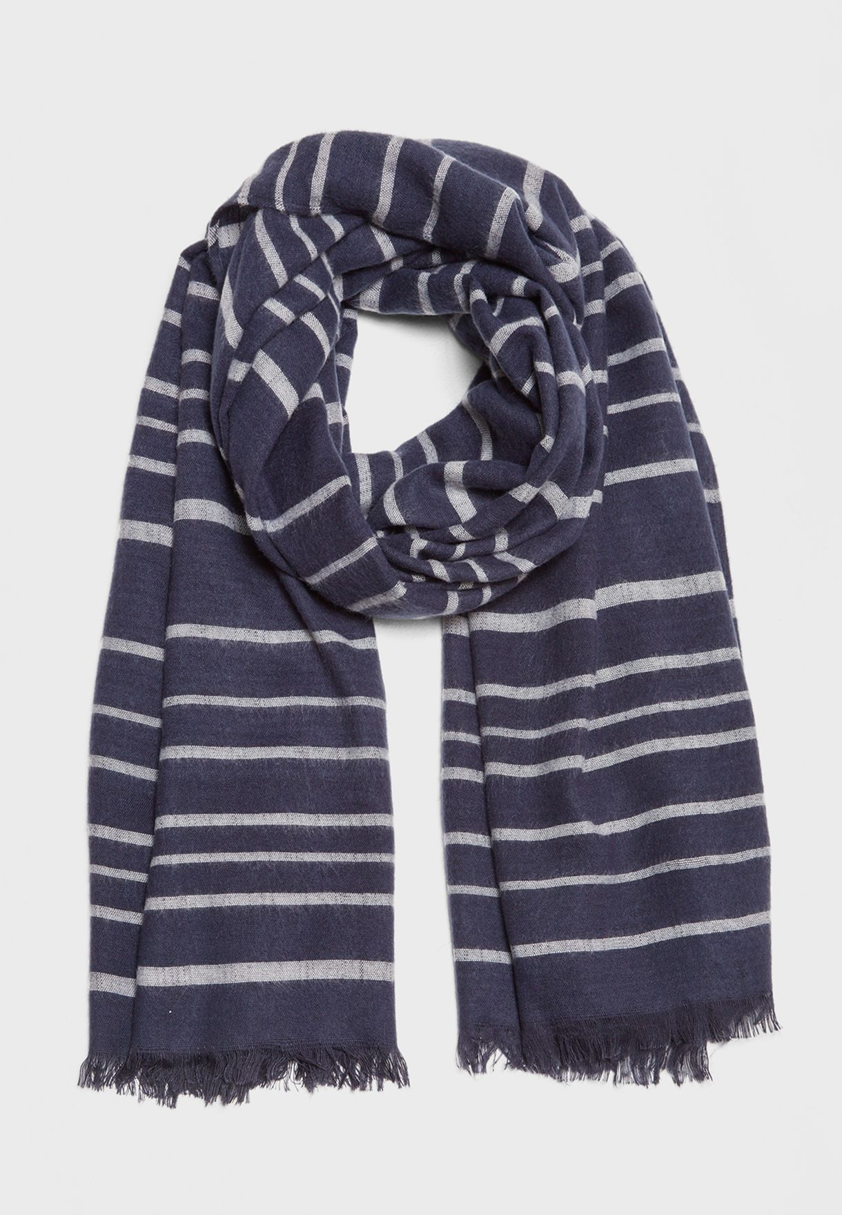 9be00d76122bb Shop Only prints Liva Weaved Striped Scarf 15150417 for Women in UAE ...