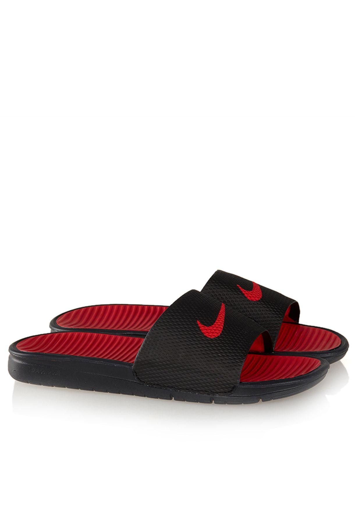 e5ef4d6644ac Shop Nike black Benassi Solarsoft Slide 431884-011 for Men in Qatar ...