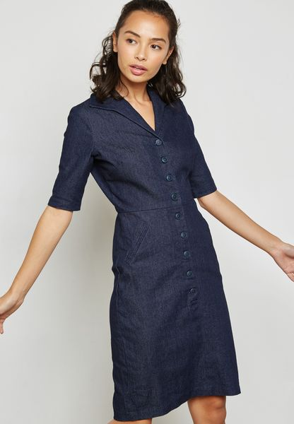 Pocket Detail Shirt Dress