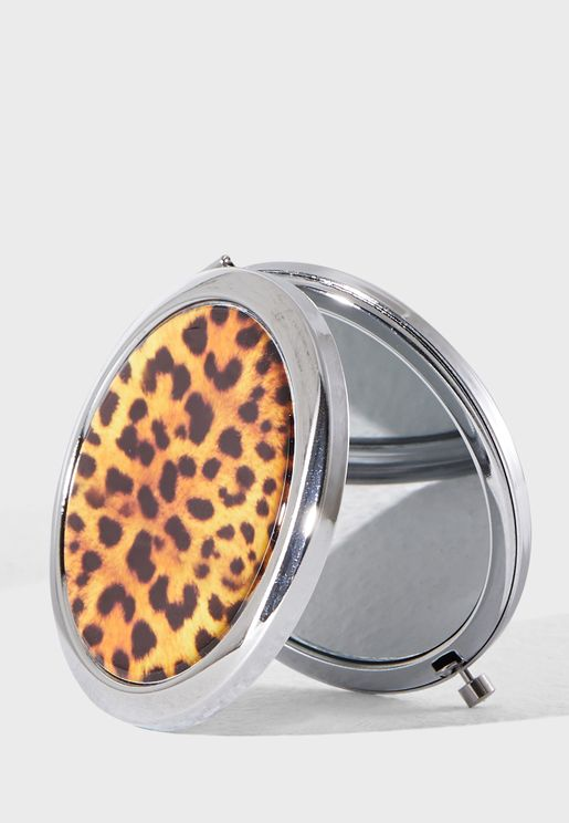 Leopard Compact Mirror