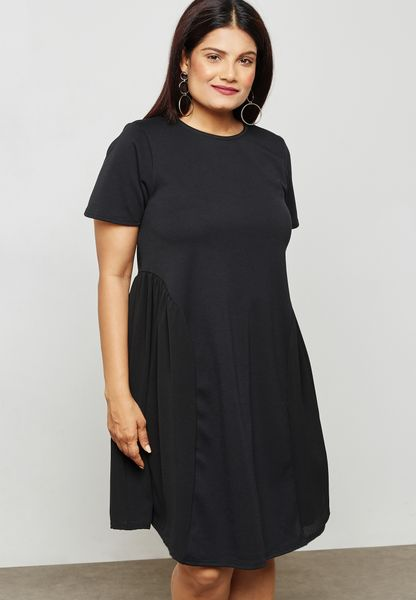 Swing Dress with Mesh Inserts