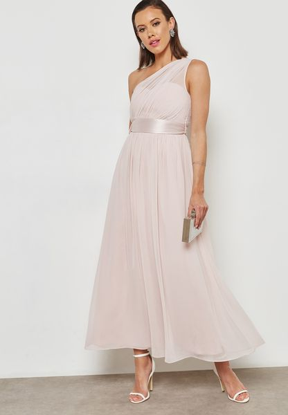 One Shoulder Maxi Bridesmaid Dress