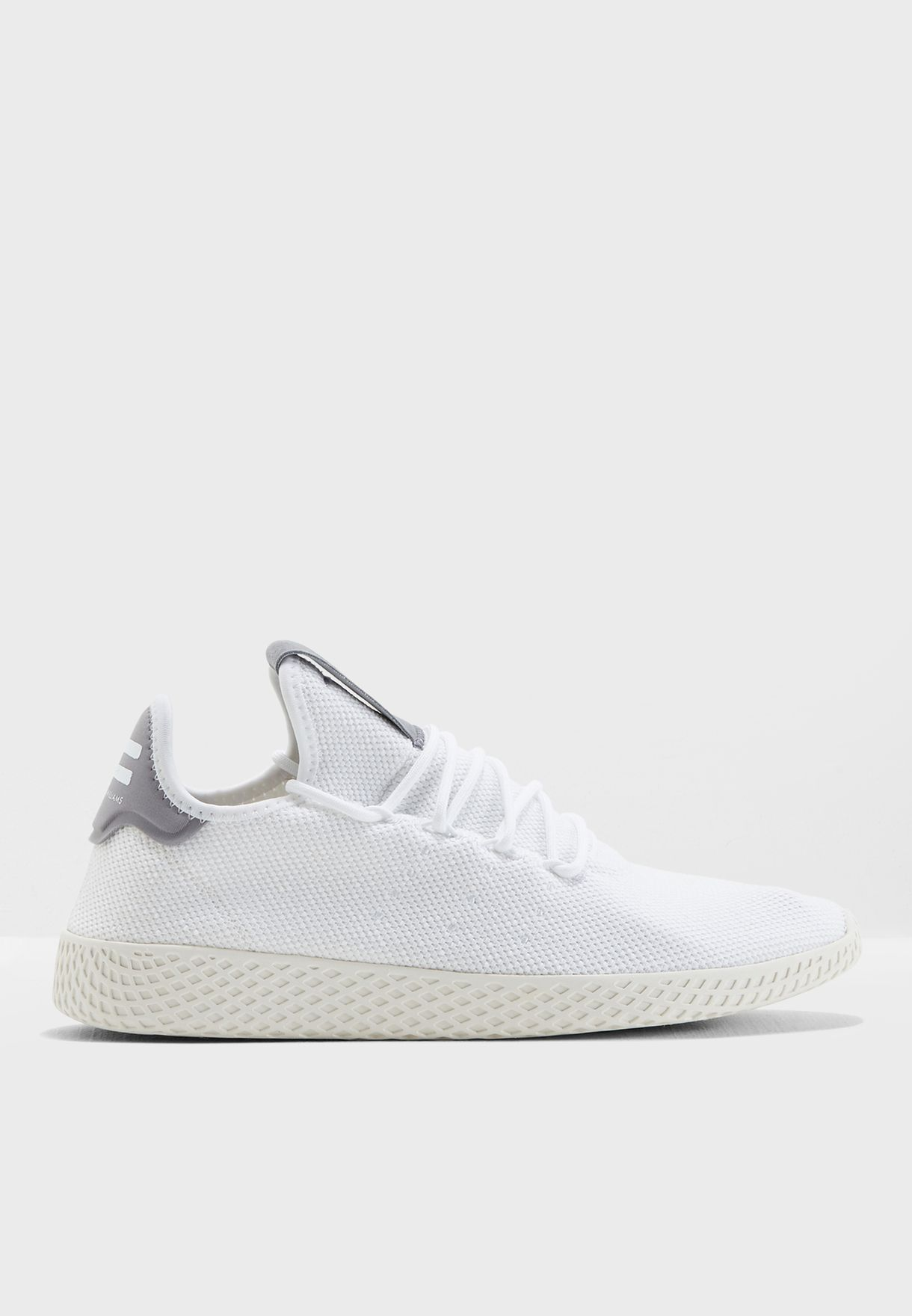 ad7d3d392b6ae Shop adidas Originals white Pharrell Williams Tennis Hu B41793 for ...