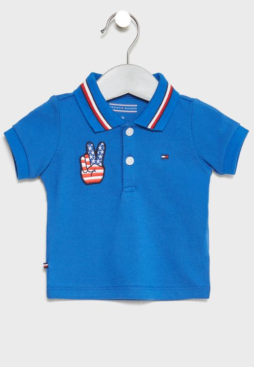 Infant Patched Polo