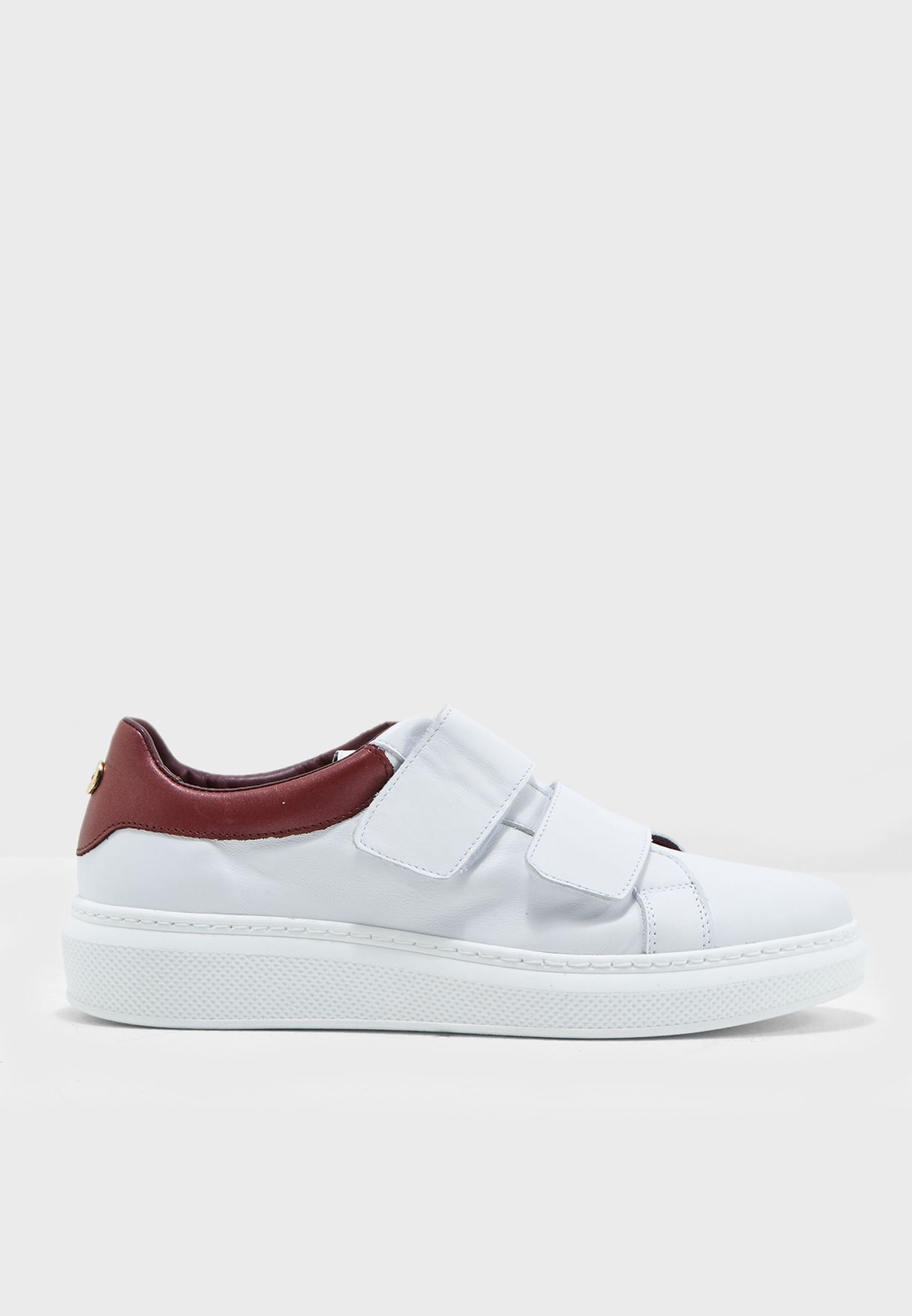 3e724b1e5 Shop Tommy Hilfiger white Flat Low Top Sneakers FW0FW01952 for Women ...
