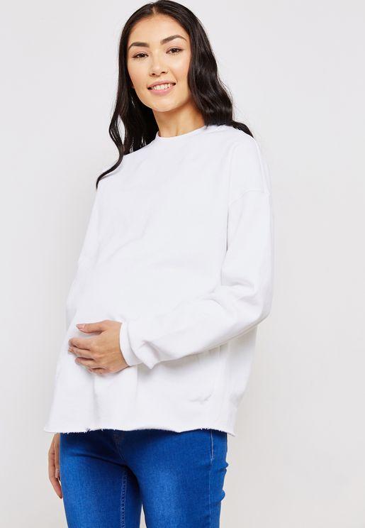 Raw Hem Sweatshirt
