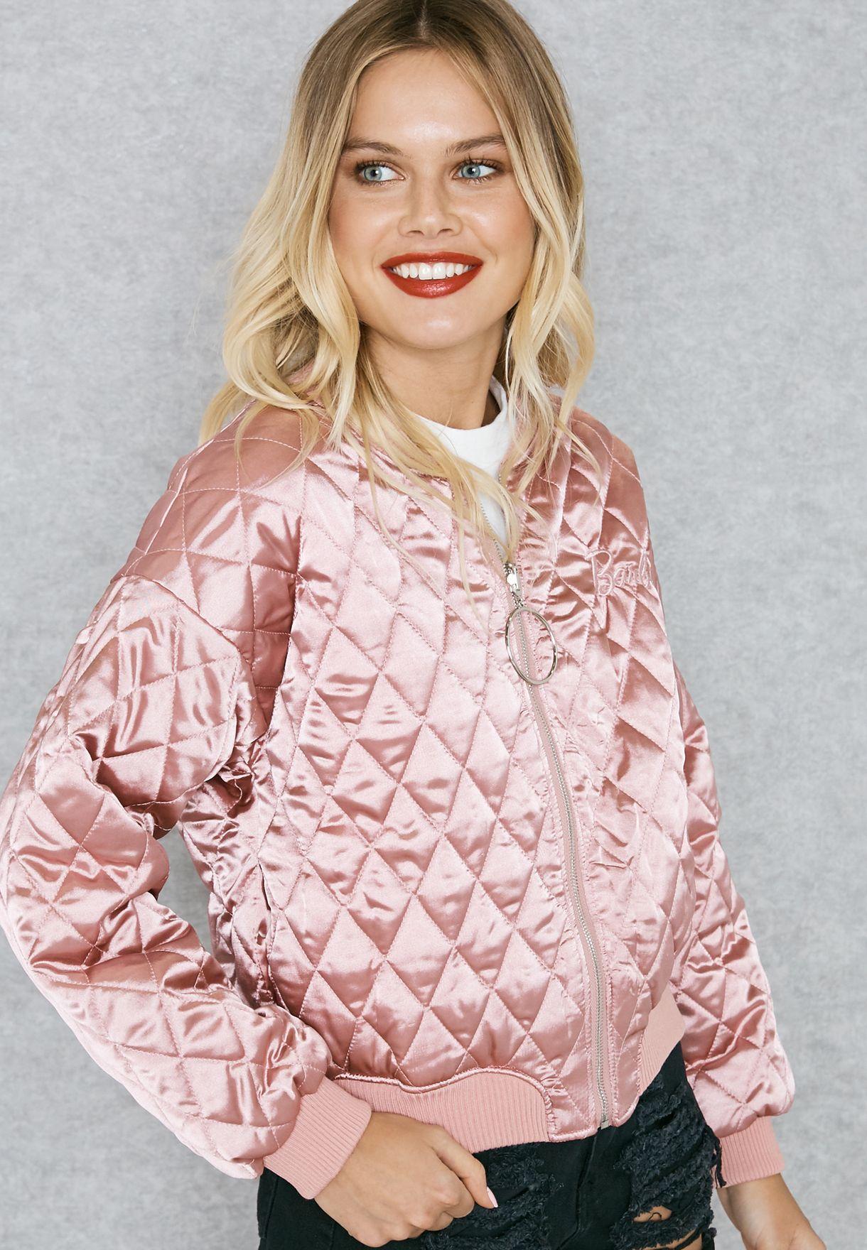 MG Barbie Slogan Back Bomber Jacket
