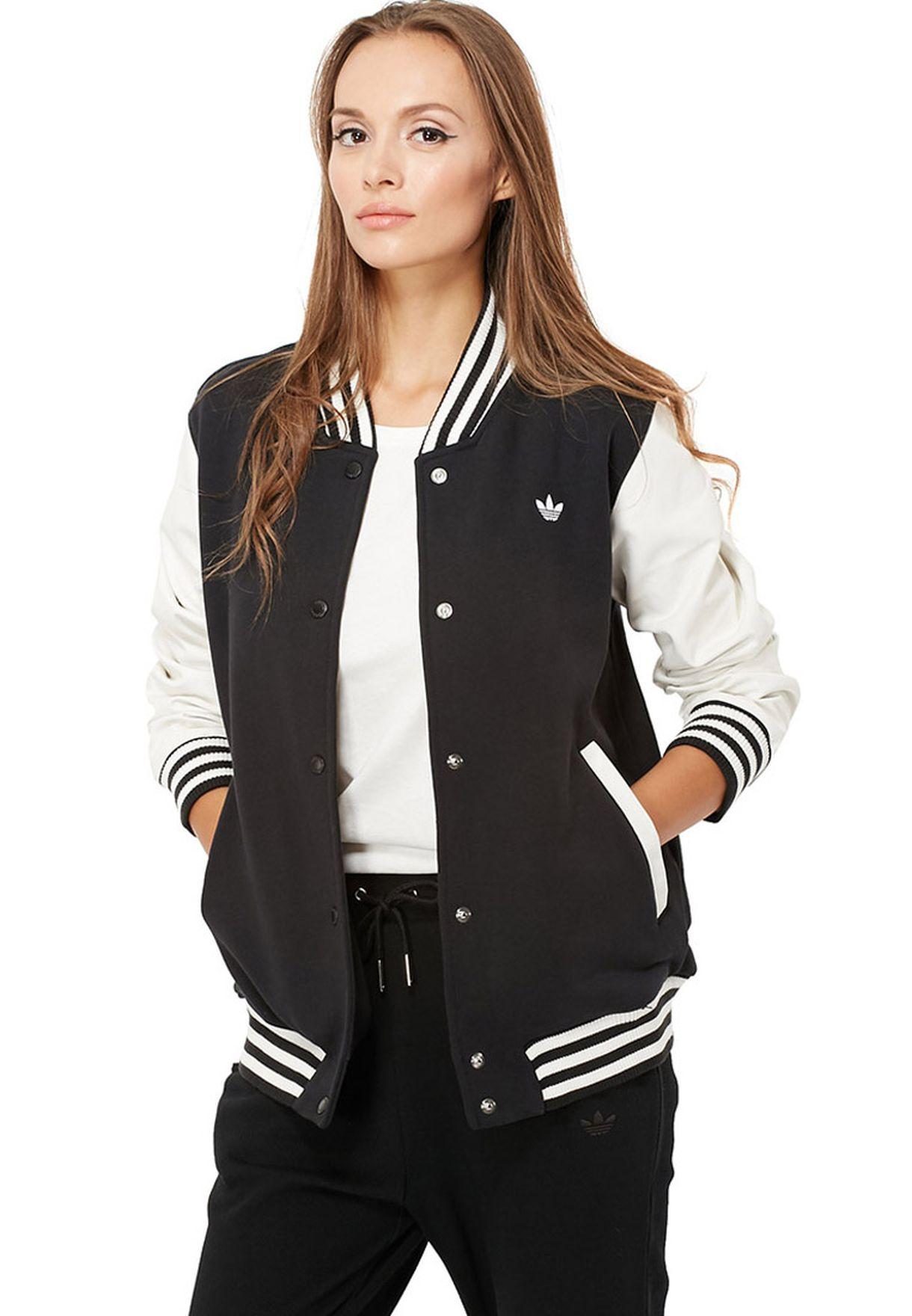 adidas varsity jacket womens