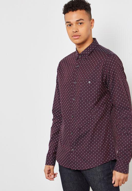 Oxford Micro Geo Print Shirt
