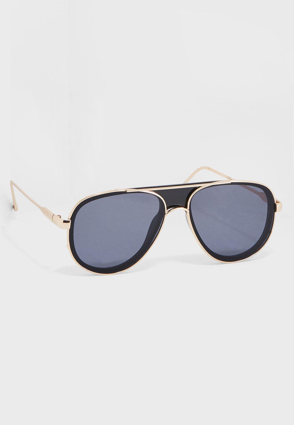 7c4aec5ddb Shop Aldo gold Shanequa Sunglasses SHANEQUA98 for Men in UAE ...