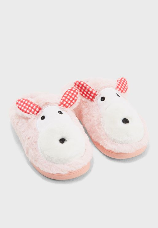 Thea Scoot Dog Bedroom Slippers