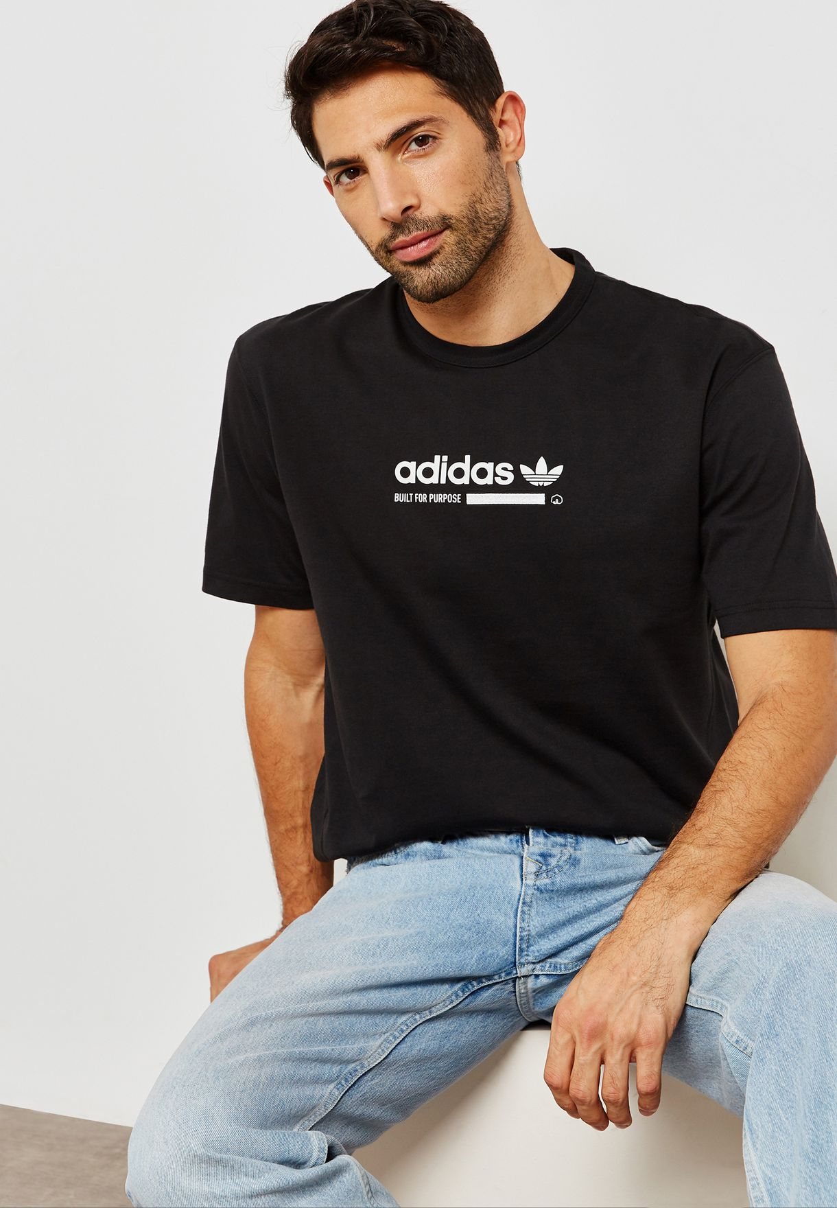 f164914c6 Shop adidas Originals black Kaval T-Shirt DH4970 for Men in UAE ...
