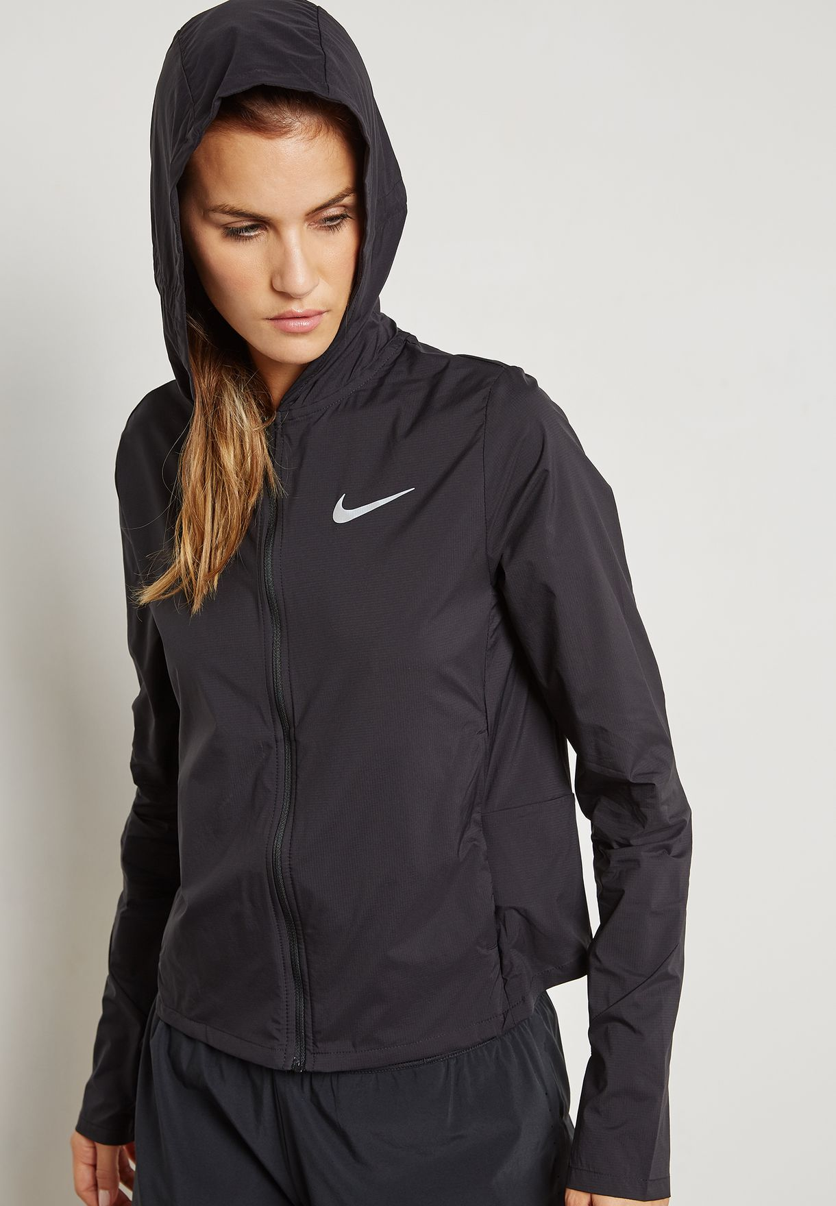 fbc65d695a Shop Nike black Shield Convertible Jacket 890106-010 for Women in Qatar -  NI727AT54ZDX