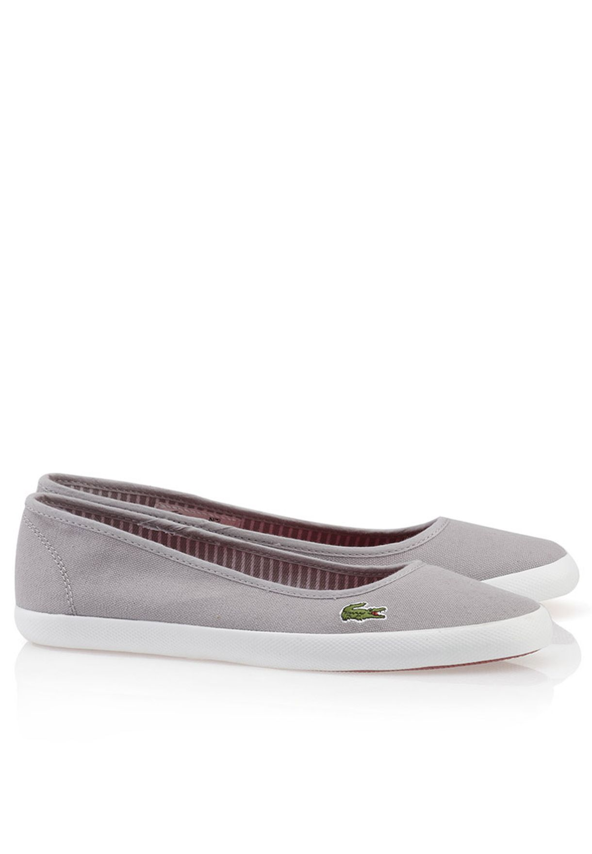 4d344324d096 Shop Lacoste grey Marthe FRS Slip ons 27SPW0117-12C for Women in ...