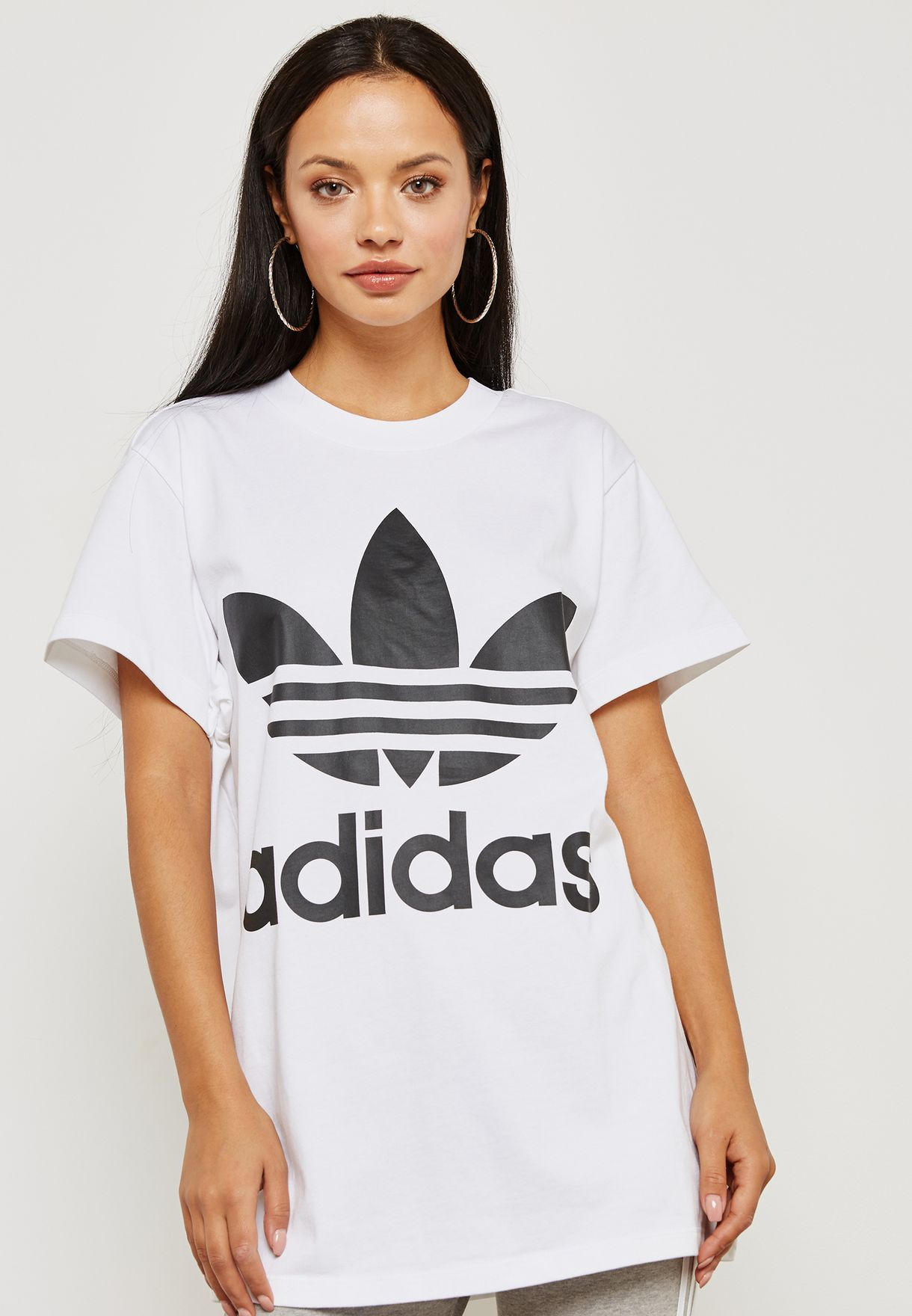 huge selection of 14094 0da16 Shop adidas Originals white adicolor Trefoil T-Shirt DH3160 for Women in  Kuwait - AD478AT54YBX