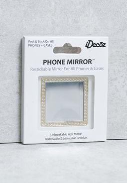 Square  Crystals Selfie Mirror