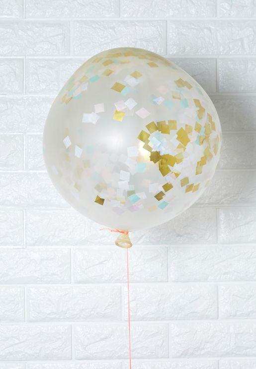 8 Giant Iridescent Confetti Balloons
