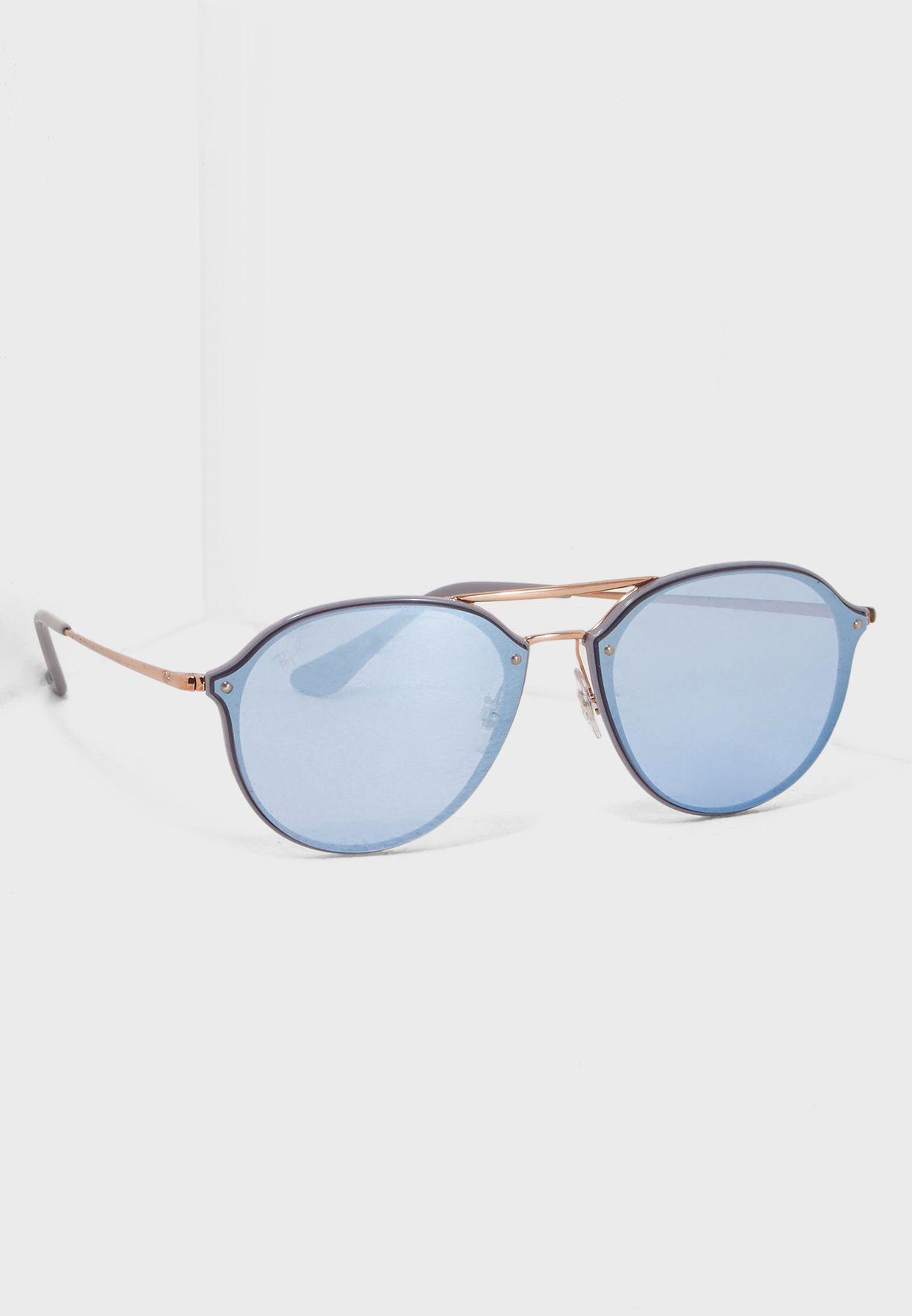 137b9893e تسوق نظارة شمسية دبل بريدج ماركة ريبان لون رمادي 8053672837902 في ...