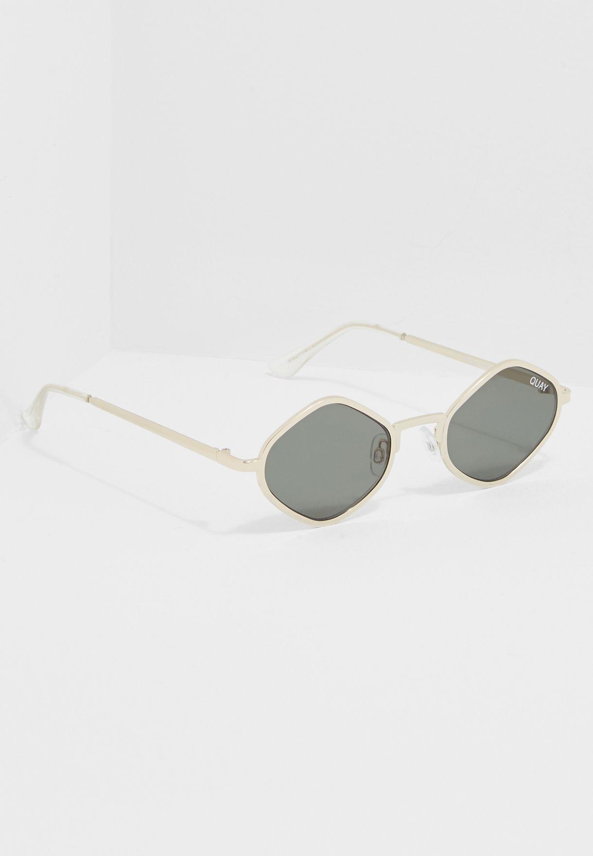 d7f676b7aa Shop Quay Australia gold QuayxKylie Honey Sunglasses PURPLE HONEY ...