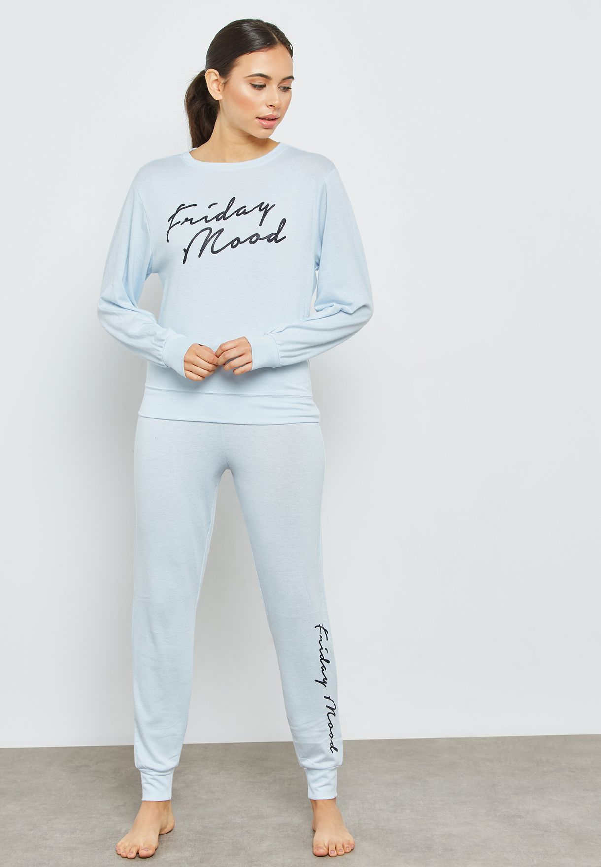 Slogan Night Sweatshirt