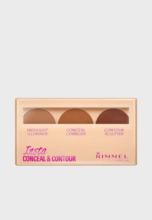 Insta Conceal & Contour Palette- 030 Dark