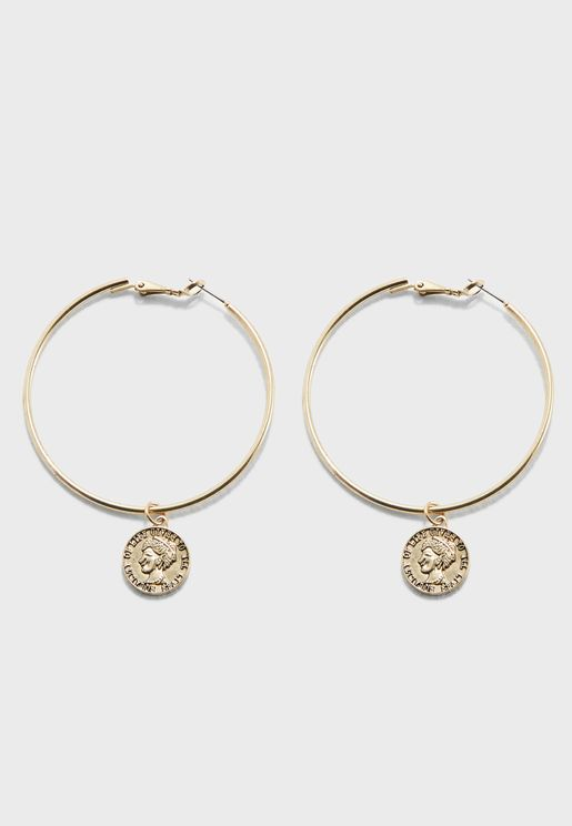 Equality Coin Hoop Earrings