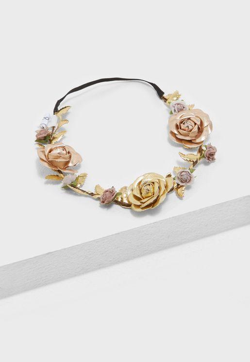 ربطة رأس مزينة بالازهار