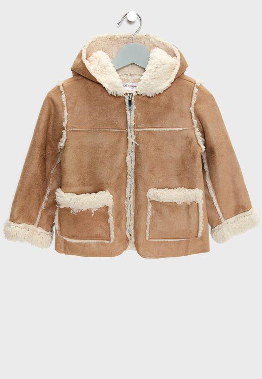 Infant Fur Detail Jacket