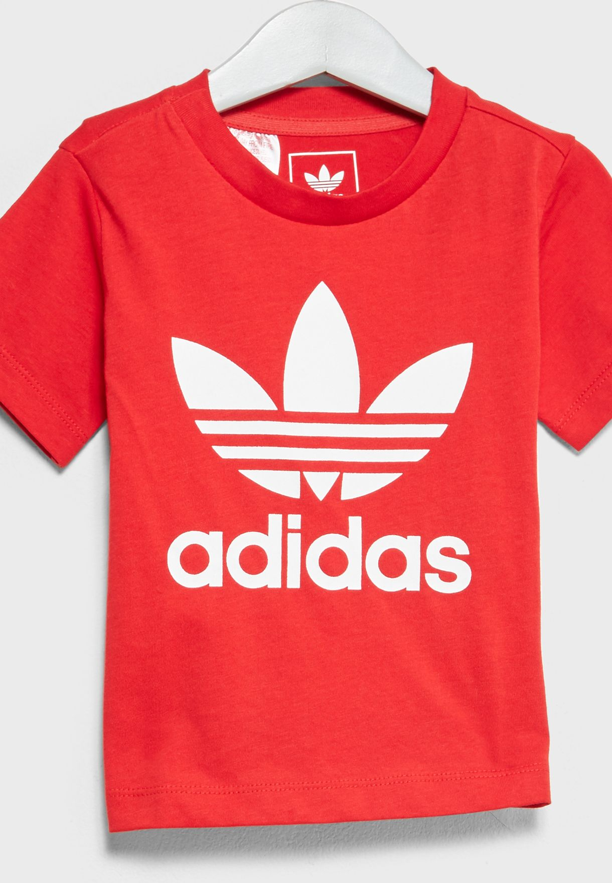 Red CE4314 Infant adidas Trefoil T-Shirt