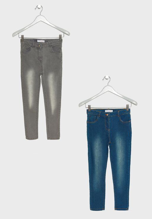 Teen 2 Pack Denim Jeans