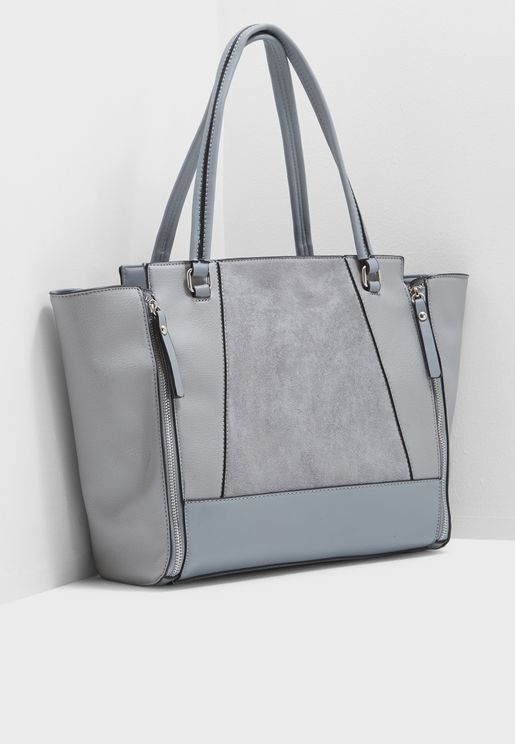 Camilla Color  Block Zip Tote