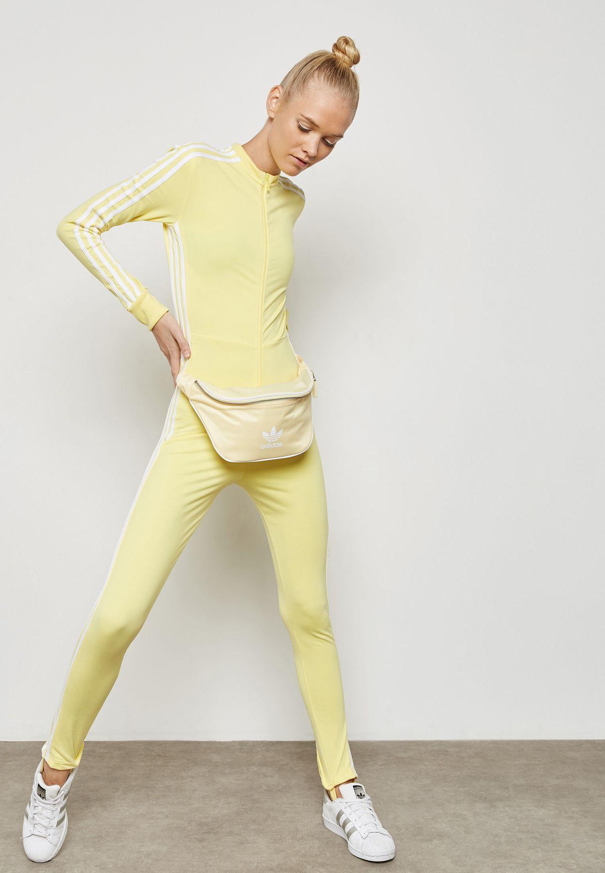 f004d01bca2b Shop adidas Originals yellow adicolor Stage Jumpsuit CE4956 for ...