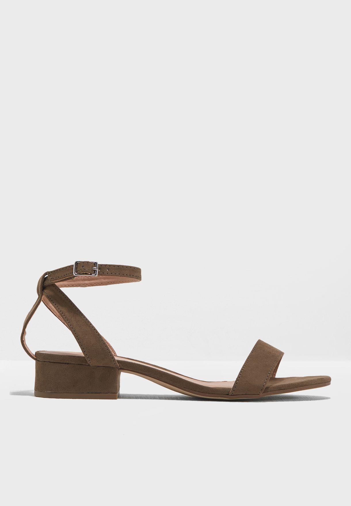 Snakey Block Heel Sandal