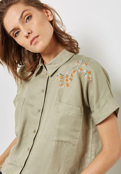 Panther Embroidered Shirt