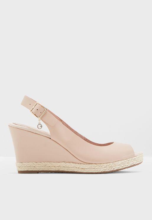 Klicks Sling Back Wedge Sandals