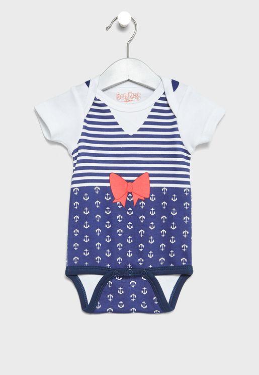 Infant Stiped Bodysuit