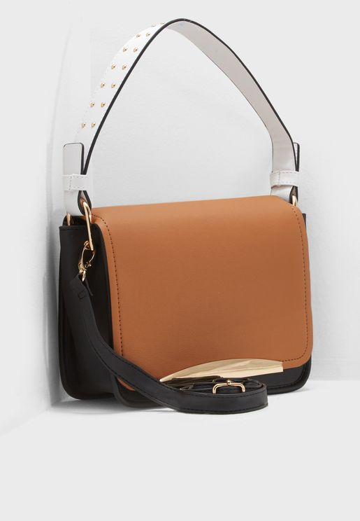 Carmen Color Block Stud Crossbody