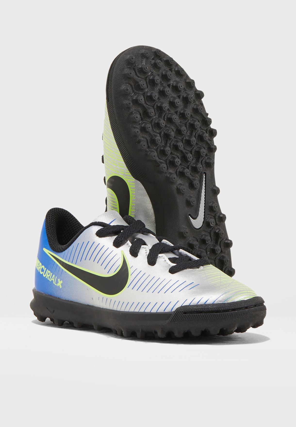 eca74a302 Shop Nike multicolor Mercurialx VRTX III NJR TF Kids 921497-407 for ...