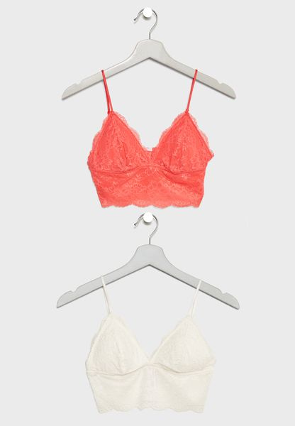 2 Pack Lace Bralet