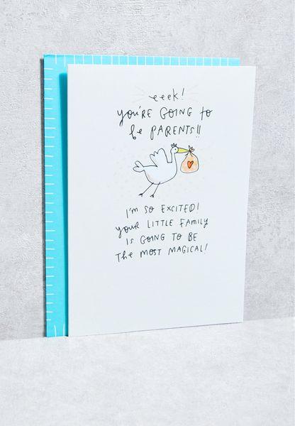 Parents To Be Eeek! Stork Card