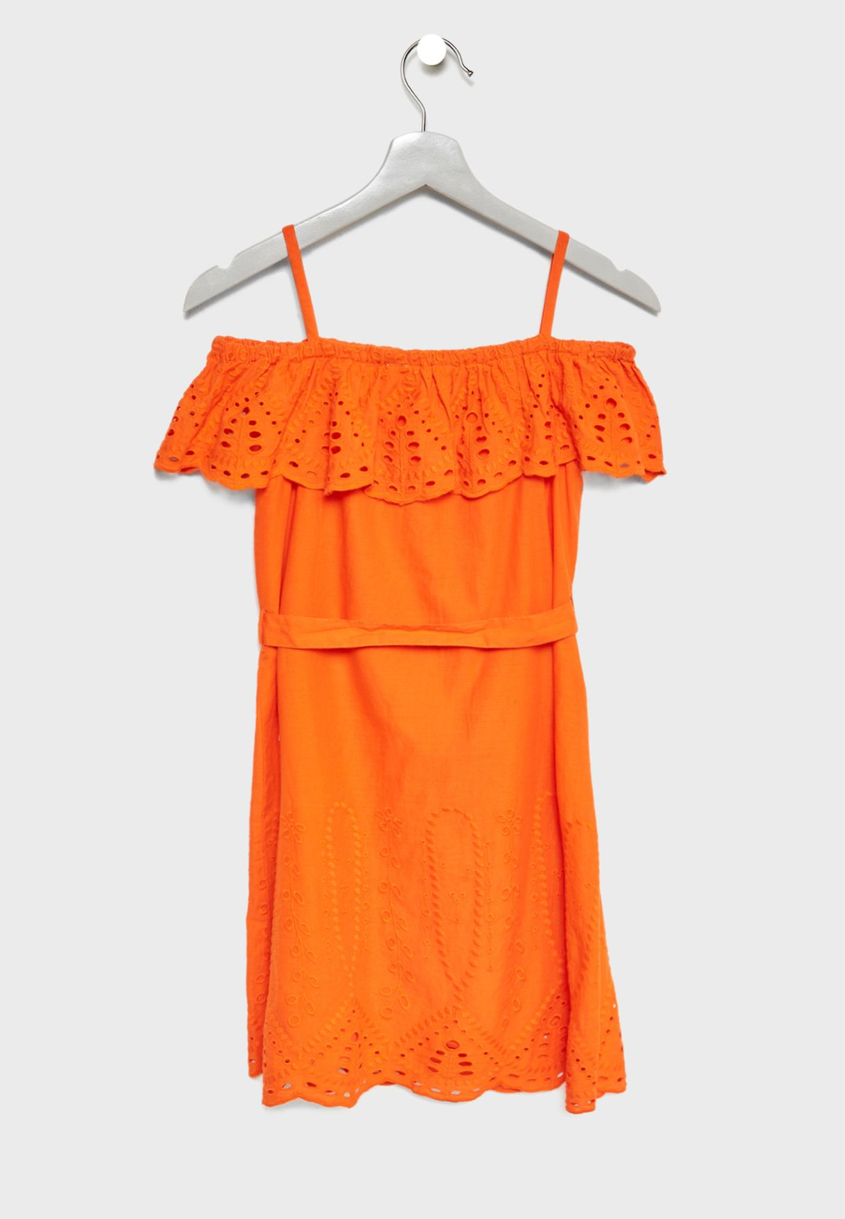 Teen Embroidered Ruffle Playsuit