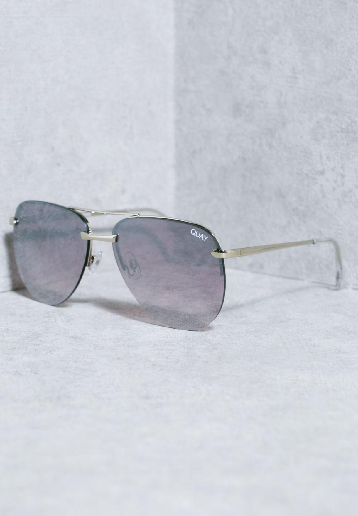 5b6b8ef3d6fd6 Shop Quay Australia silver The Playa Sunglasses QW-000156 for Women in UAE  - QU896AC44OGX