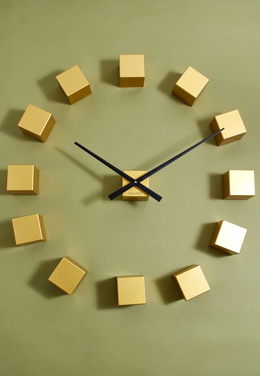 DIY Gold Block Wall Clock