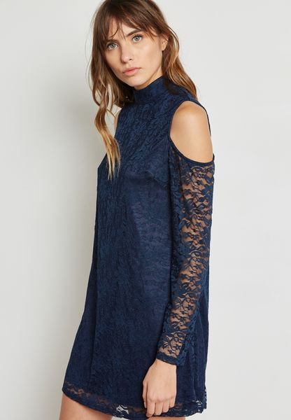 Lace Cold Shoulder Dress