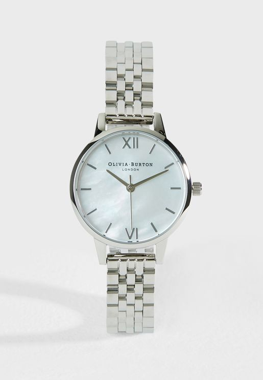 Mother Of Pearl Bracelet Watch